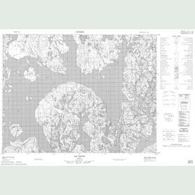 Canadian Topo Map - Lac Gouin - Map 022E09