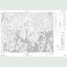Canadian Topo Map - Lac Melonèze - Map 022E10