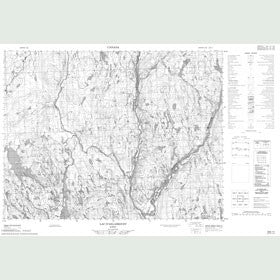 Canadian Topo Map - Lac d'Ailleboust - Map 022E11