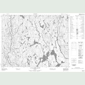 Canadian Topo Map - Lac du Sapin Croche - Map 022E13