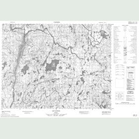 Canadian Topo Map - Lac à Paul - Map 022E15