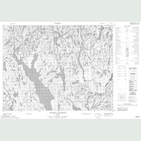 Canadian Topo Map - Rivière la Tourette - Map 022E16