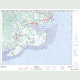 Canadian Topo Map - Baie-Comeau - Map 022F01