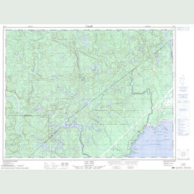 Canadian Topo Map - Lac Nipi - Map 022F02