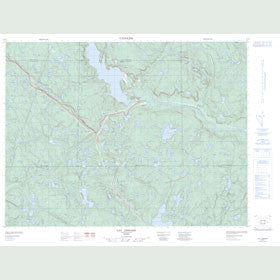 Canadian Topo Map - Lac Lessard - Map 022F03
