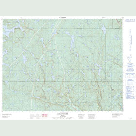 Canadian Topo Map - Lac Isidore - Map 022F04
