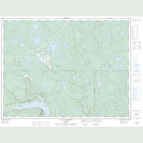Canadian Topo Map - Lac le Barbier - Map 022F06