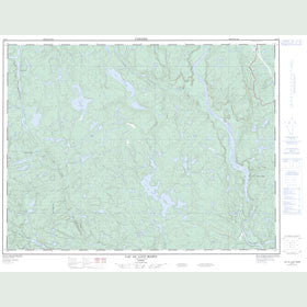 Canadian Topo Map - Lac au Loup Marin - Map 022F07