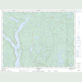 Canadian Topo Map - Lac Miquelon - Map 022F09