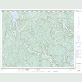Canadian Topo Map - Lac Varin - Map 022F10