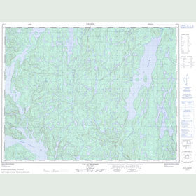 Canadian Topo Map - Lac au Brochet - Map 022F12