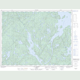 Canadian Topo Map - Lac Carteret - Map 022F14