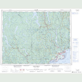 Canadian Topo Map - Baie-Comeau - Map 022F