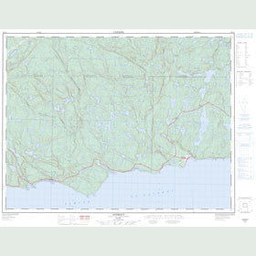 Canadian Topo Map - Godbout - Map 022G05
