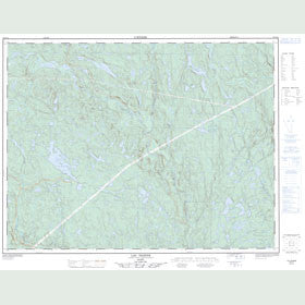 Canadian Topo Map - Lac Dionne - Map 022G12