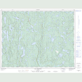 Canadian Topo Map - Lac Georgette - Map 022G13