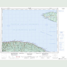 Canadian Topo Map - Port-Menier - Map 022H