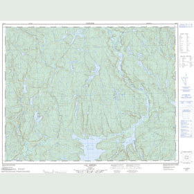 Canadian Topo Map - Lac Brézel - Map 022I11