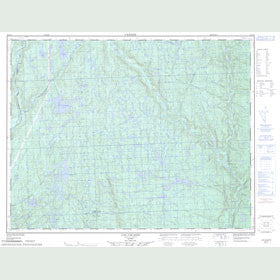Canadian Topo Map - Lac Cacaoni - Map 022I12