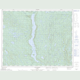 Canadian Topo Map - Lac Manitou - Map 022I14