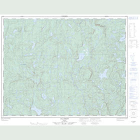 Canadian Topo Map - Lac Ternet - Map 022I16