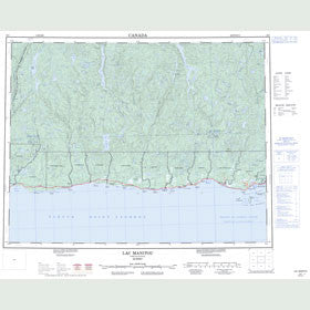 Canadian Topo Map - Lac Manitou - Map 022I