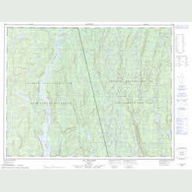 Canadian Topo Map - Lac Beaudin - Map 022J05