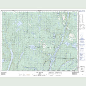 Canadian Topo Map - Lac Asquiche - Map 022J07