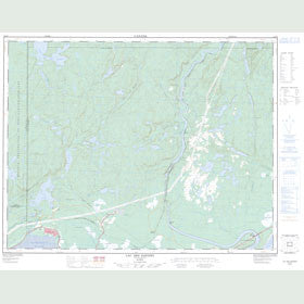 Canadian Topo Map - Lac des Rapides - Map 022J08
