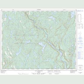 Canadian Topo Map - Lac Attacaupé - Map 022J10
