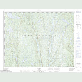 Canadian Topo Map - Lac Rond - Map 022J11