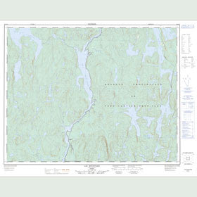 Canadian Topo Map - Lac Bouffard - Map 022J12