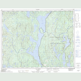 Canadian Topo Map - Lac Fortin - Map 022J13