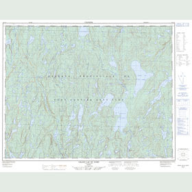 Canadian Topo Map - Grand Lac du Nord - Map 022J14