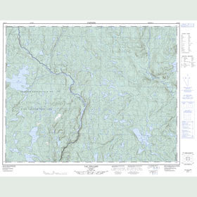 Canadian Topo Map - Lac Dollard - Map 022J15