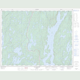 Canadian Topo Map - Lac Gaillard - Map 022K02