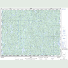Canadian Topo Map - Lac Praslin - Map 022K04