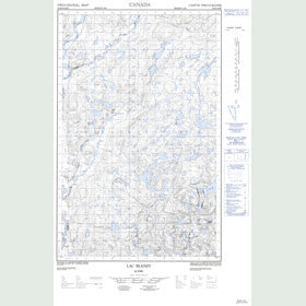 Canadian Topo Map - Lac Blanzy - Map 022K06E