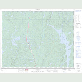 Canadian Topo Map - Lac Okaopéo - Map 022K07