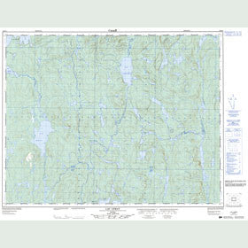 Canadian Topo Map - Lac Lemay - Map 022K09