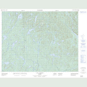 Canadian Topo Map - Lac Auriac - Map 022K13