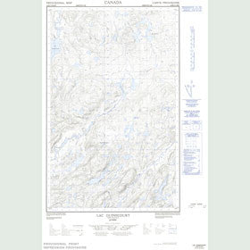 Canadian Topo Map - Lac Guinecourt - Map 022K14E