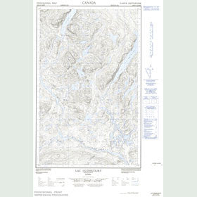 Canadian Topo Map - Lac Guinecourt - Map 022K14W