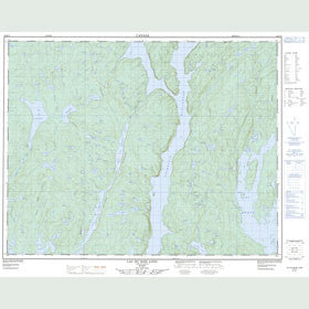Canadian Topo Map - Lac du Bois Long - Map 022K15