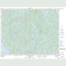 Canadian Topo Map - Lac Mistachagagane - Map 022K16