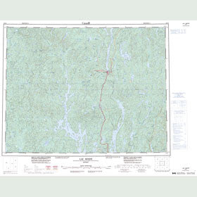 Canadian Topo Map - Lac Berté - Map 022K