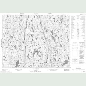 Canadian Topo Map - Lac Gommard - Map 022L01