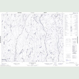Canadian Topo Map - Rivière Durfort - Map 022L02