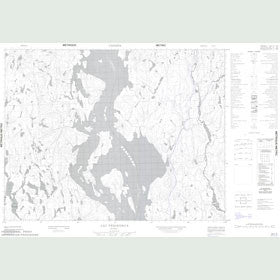 Canadian Topo Map - Lac Péribonca - Map 022L03