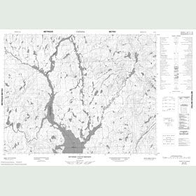 Canadian Topo Map - Rivière Cocoumenen - Map 022L06